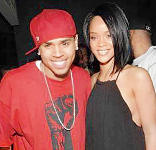 Chris Brown And Rihanna Smiling Still