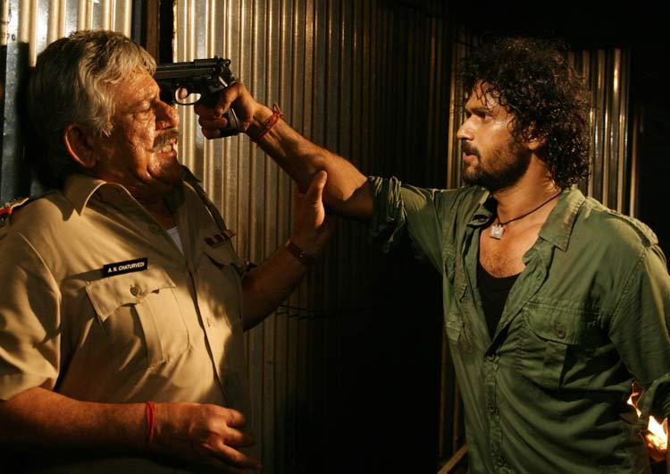Om Puri And Sohum Shah A Still From Movie Baabarr