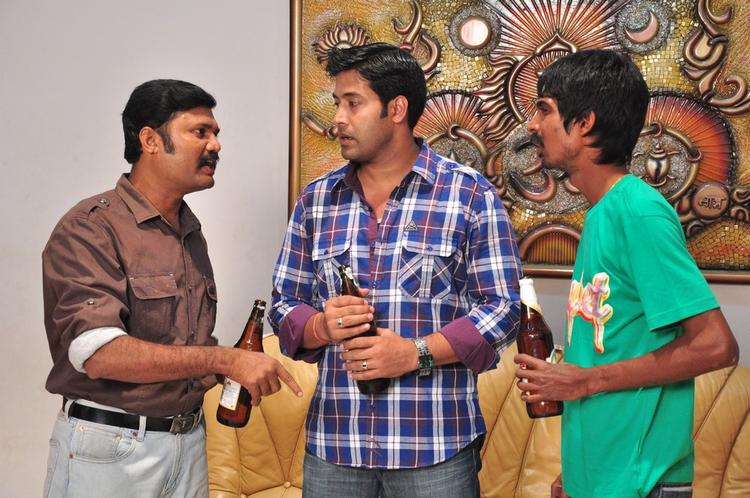 Akash With Other Actors Photo From Yuganiki Oka Premikudu Movie