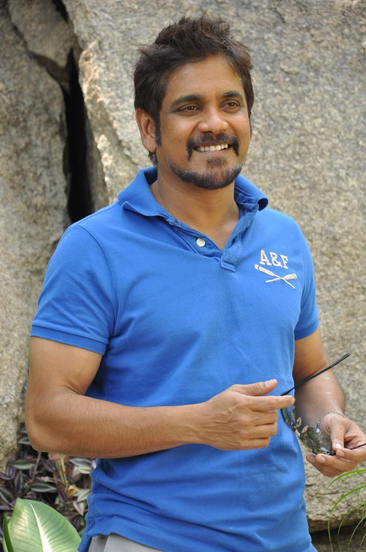 Nagarjuna Smiling Face Look Still