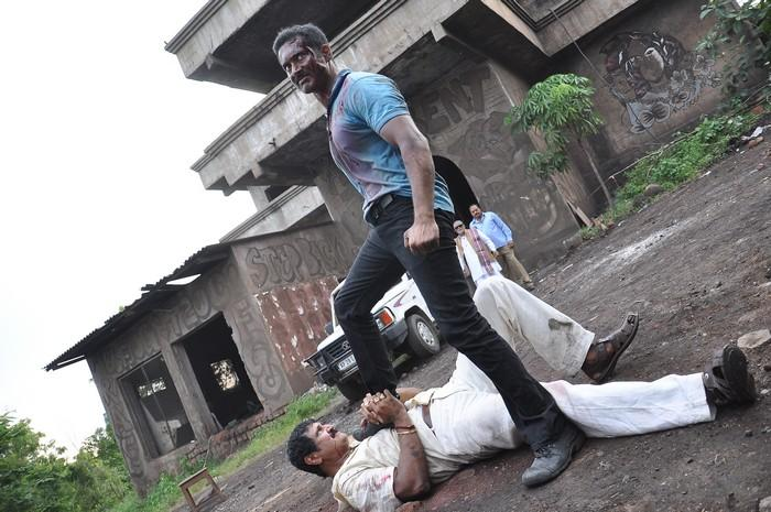 Uday Kiran Fight Still From Jai Sriram Movie