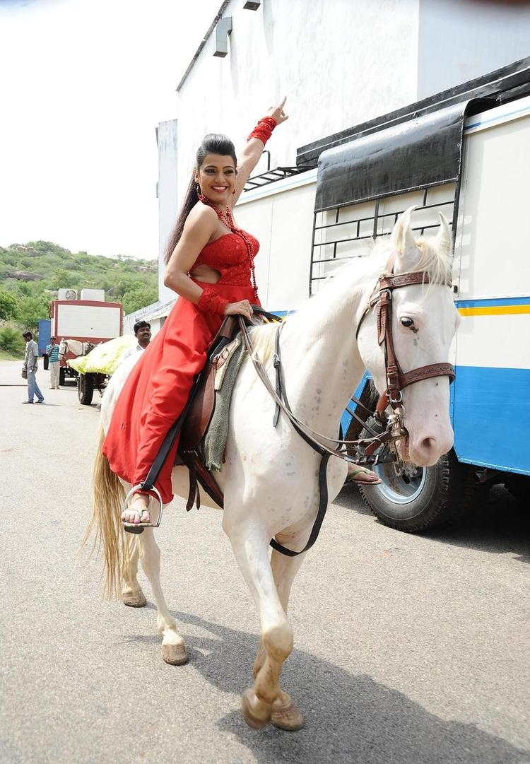 Tashu Kaushik Horse Riding Nice Still