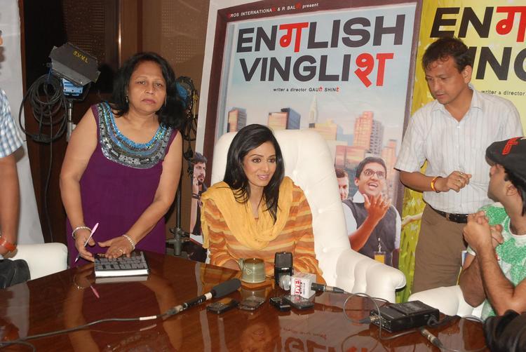 Sridevi Attend The Press Conference Of English Vinglish