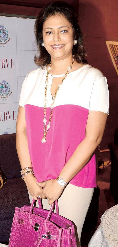 Vanita Bhandari Clicked A Pose At Launch Of IMC Ladies Exhibition