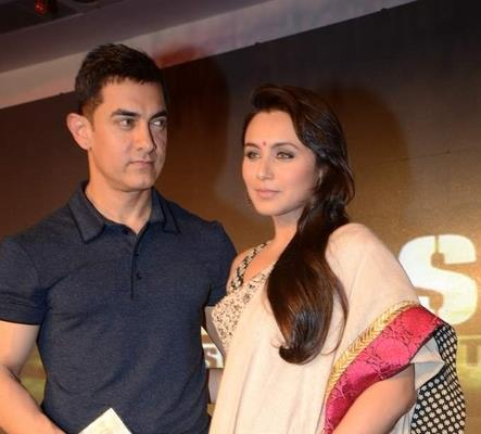 Aamir And Rani Snapped During The Music Launch Of Talaash