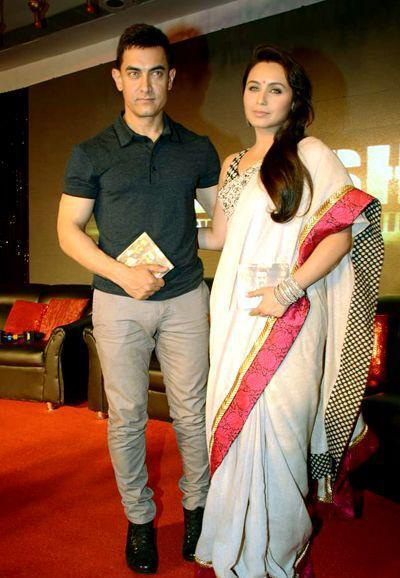 Aamir And Rani Spotted At The Music Launching Event Of Talaash