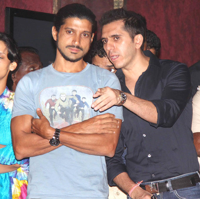 Farhan And Ritesh Spotted At Talaash Music Launch