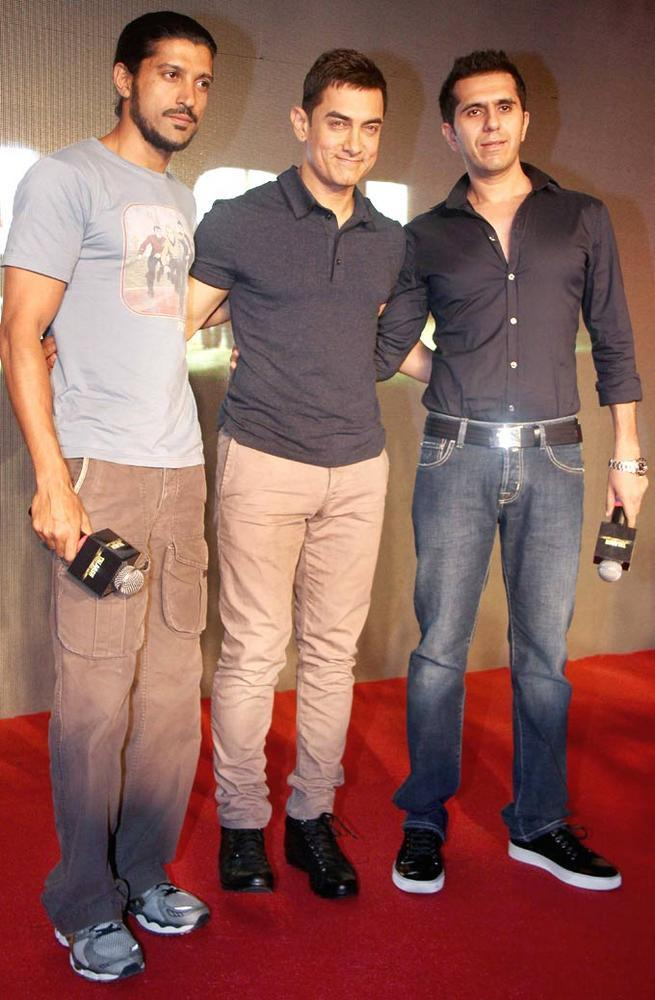 Farhan,Aamir And Ritesh At The Music Launch Of Talaash