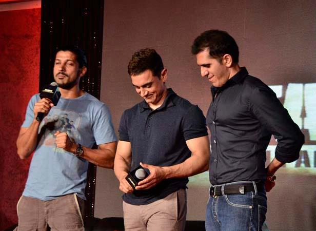 Farhan,Aamir And Ritesh Spotted At Talaash Music Launch