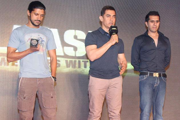 Farhan,Aamir And Ritesh Still At The Music Launch Of Talaash