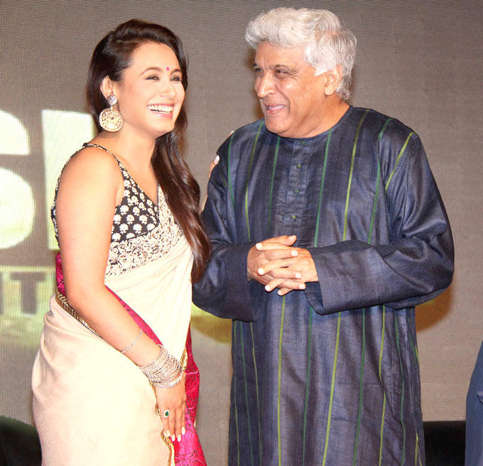 Rani And Javed During The Music Launch of Talaash