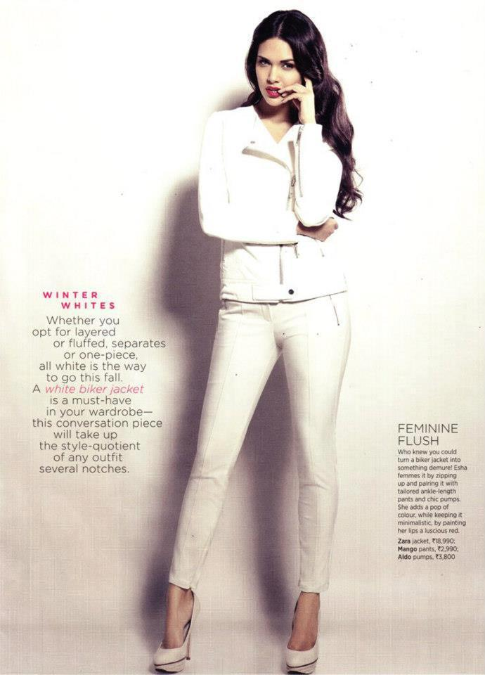 Esha Gupta Glamour Look Photo Shoot For Women's Health India October 2012