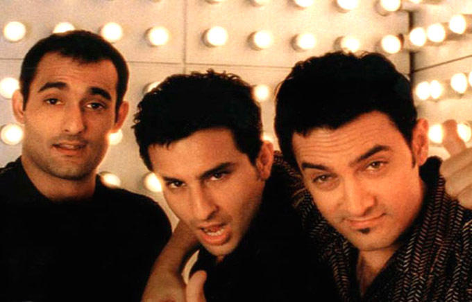 Akshaye,Saif And Aamir In Dil Chahta Hai