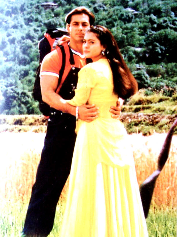 Salman And Kajol A Still From Pyar Kiya To Darna Kya