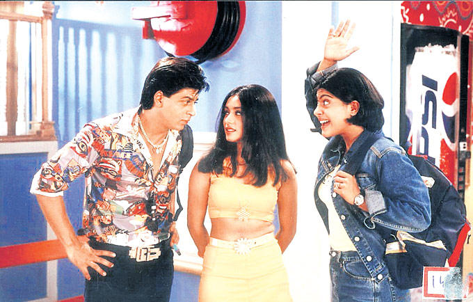 Shahrukh,Rani And Kajol In Kuch Kuch Hota Hai