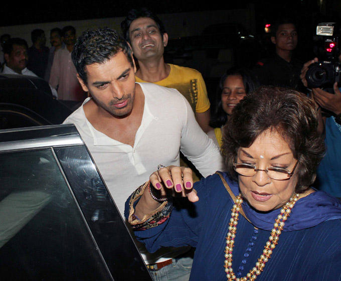 John With His Mom Spotted At Student Of The Year Screening
