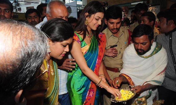 Kajal Agarwal In Spirutual Actvity Clicked