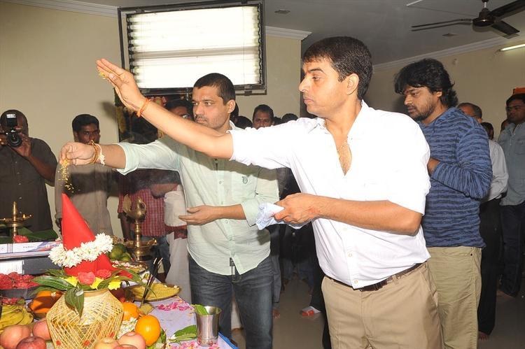 Harish Shankar And Dil Raju Stills During Mahurat