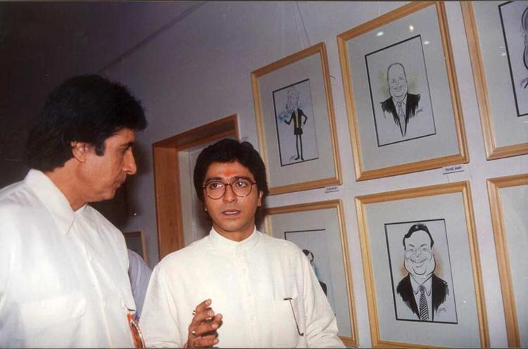 Amitabh Bachchan At An Art Exhibition