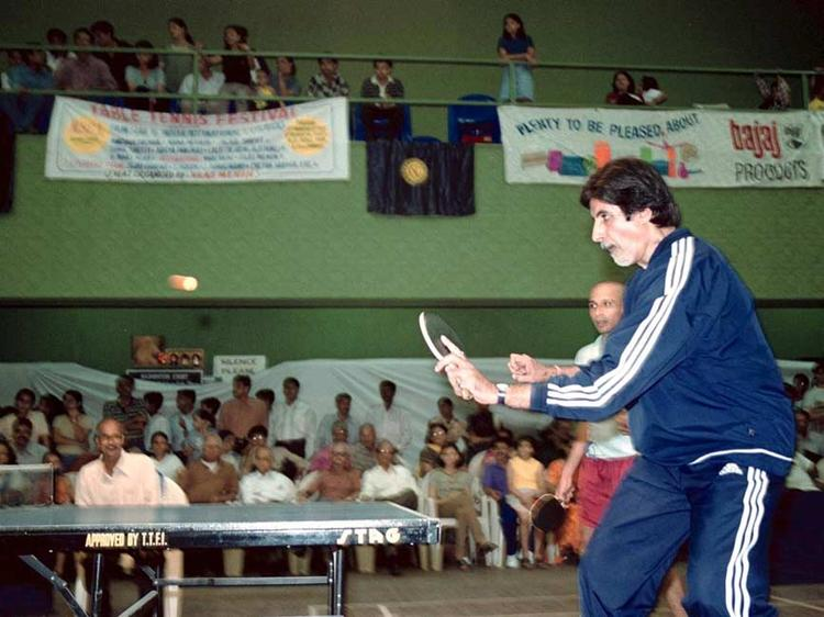 Amitabh Bachchan Playing Table Tennis