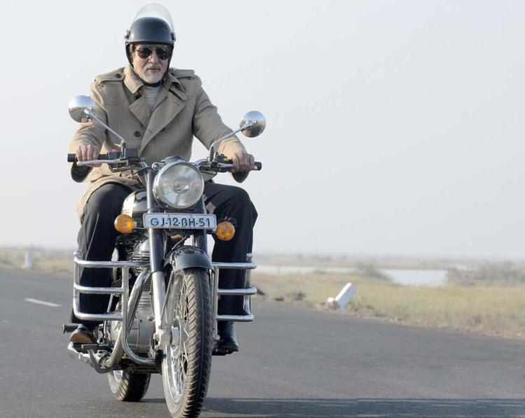 Amitabh In Bullet Stylish Still