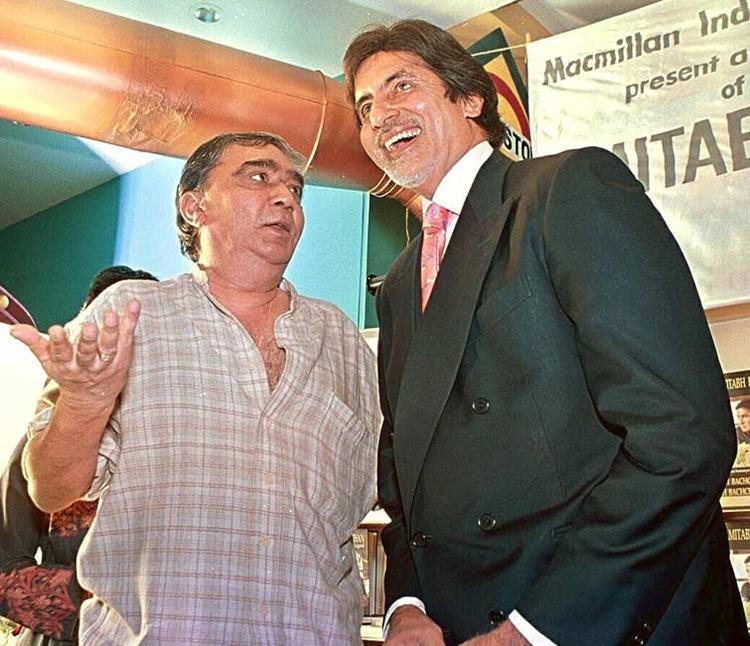 Director Prakash Mehra And Big B Smiling Photo