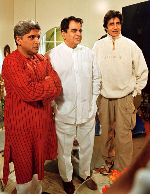 Javed,Dilip And Amitabh Pose For The Camera