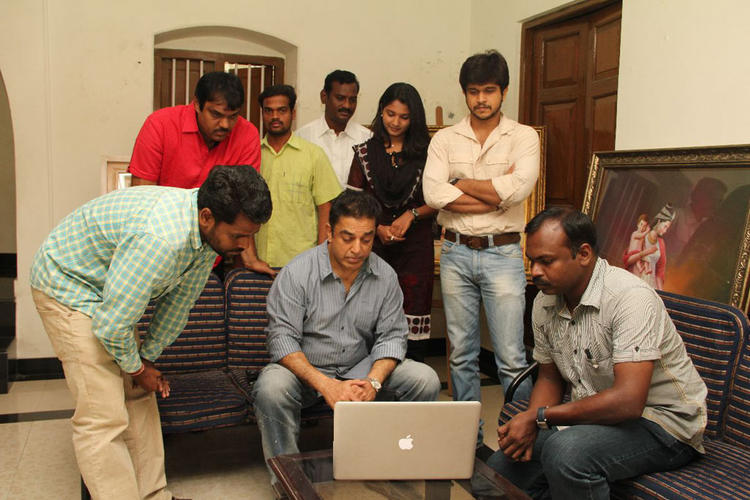 Kamal Hassan,Venkatesh And Akshara Still In Osei Osei Vadilesi Vellipoke Movie