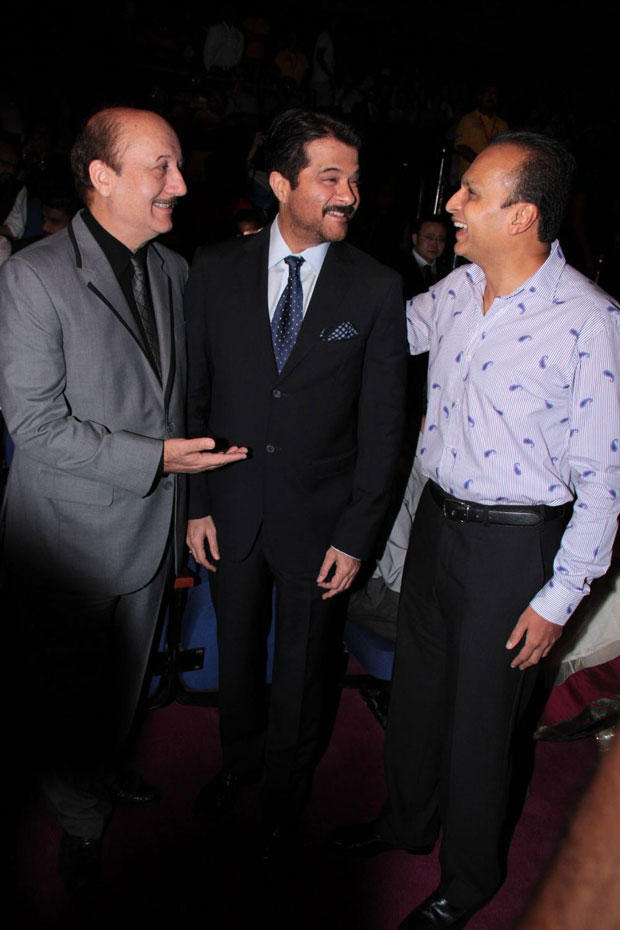 Anil And Anupam Smiling Pic At The Opening Ceremony Of 14th Mumbai Film Festival