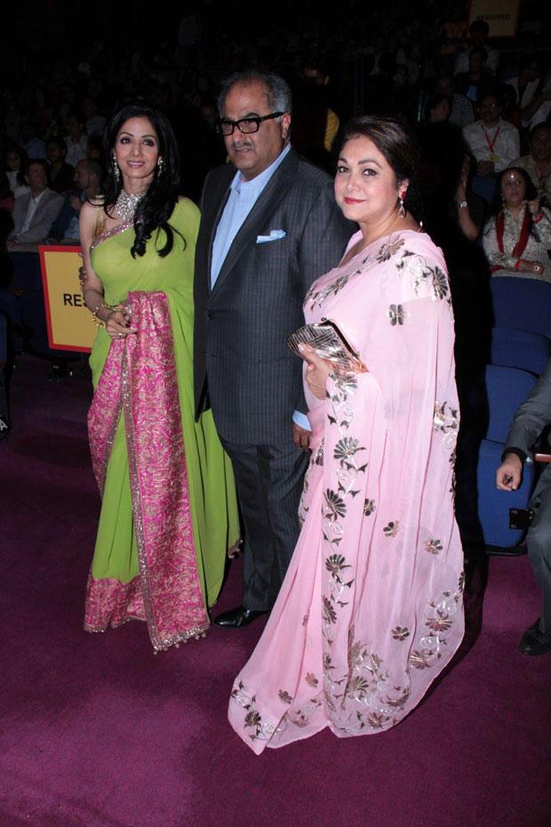 Sridevi,Boney And Tina During The Opening Ceremony Of 14th Mumbai Film Festival