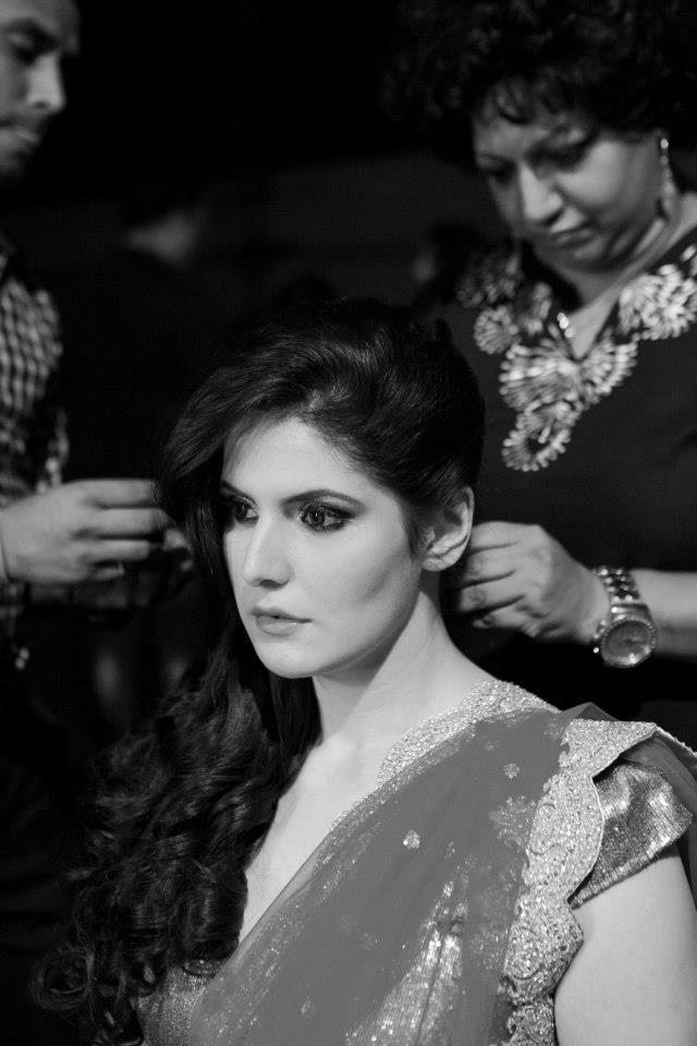 Zarine Photo Shoot At Make Up Room Of Blenders Pride Fashion Tour