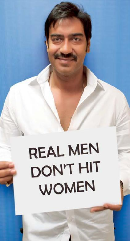 Ajay Devgan Support Real Men Don't Hit Women Campaign
