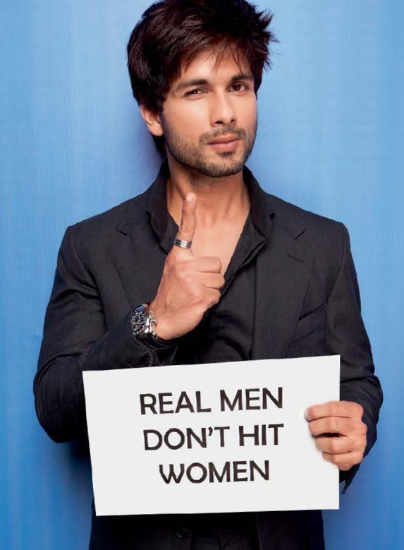 Shahid Kapoor At Cosmo's Campaign Against Domestic Violence