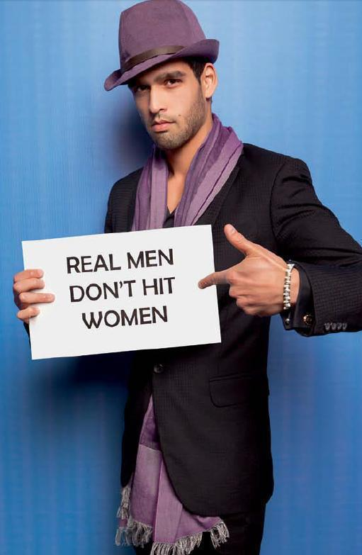 Siddharth Mallya Against Domestic Violence On Cosmo's Campaign