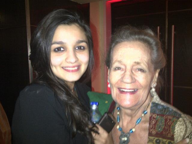 Alia Bhatt With Her Grandmother Trudy Nice Still