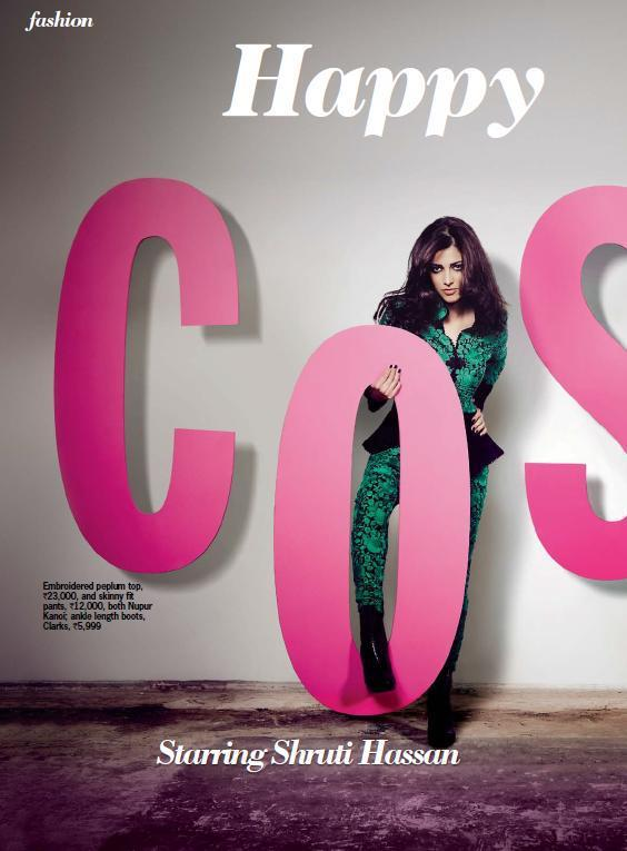 Cosmo Girl Shruti On The Cover Page Of Cosmopolitan India October 2012