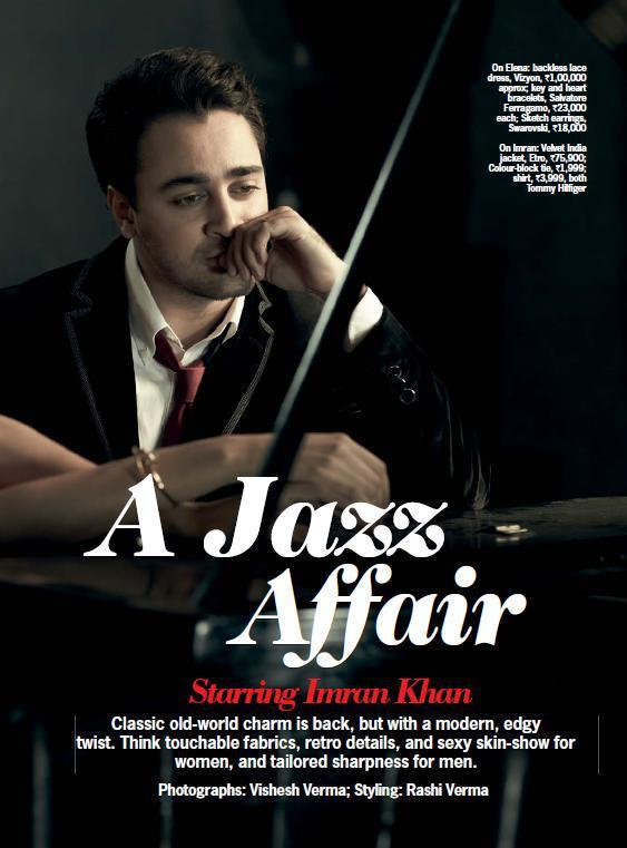 Imran Khan Still For A Jazz Affair Cover