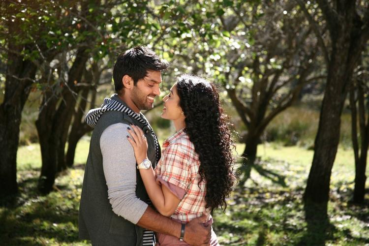 Arya And Shriya Saran During A Song Still