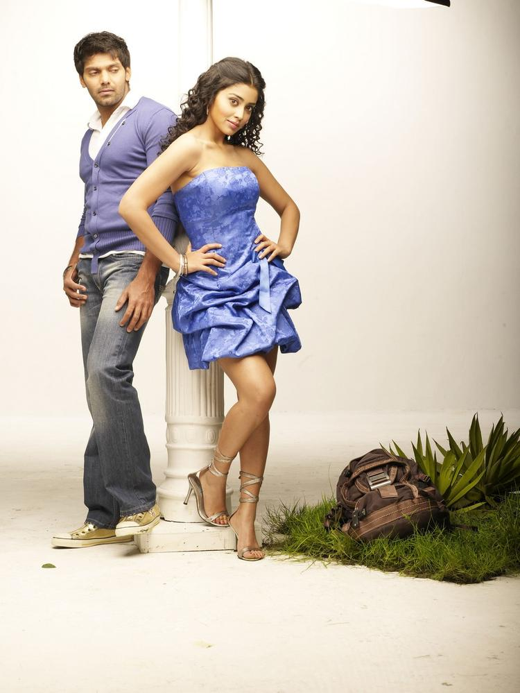 Arya And Shriya Saran Spicy Pose Photo In Movie Love To Love