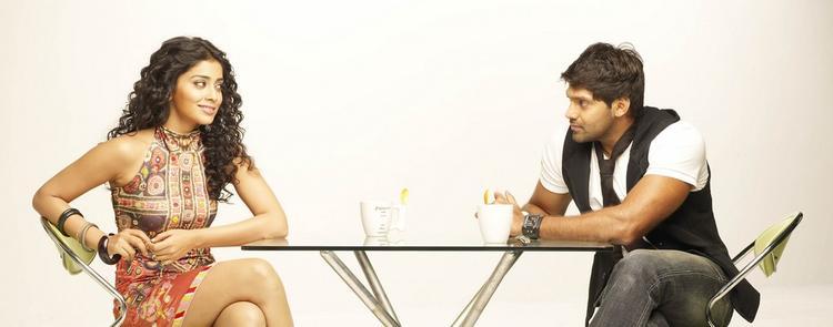 Arya And Shriya Saran Still From Movie Love To Love