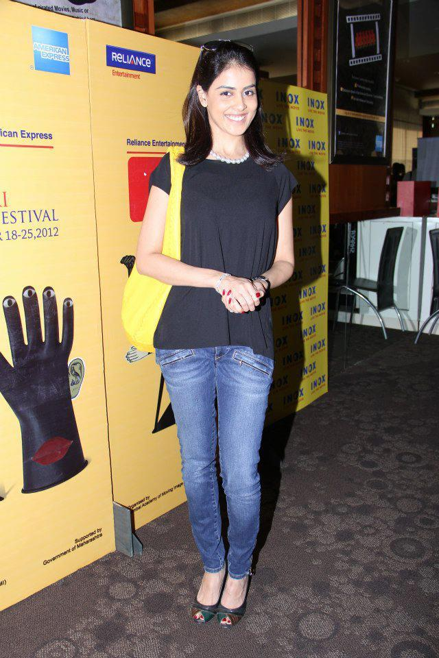 Genelia At The First Look Launch Of Balak Palak