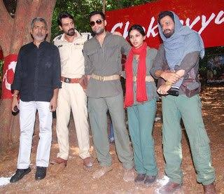 Prakash,Arjun,Abhay,Anjali And Manoj Still During Get Arrested campaign to promote Chakravyuh