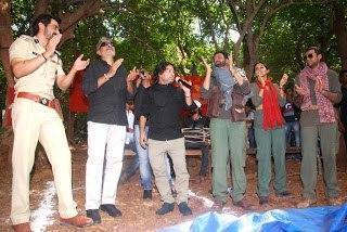 Prakash,Arjun,Abhay,Anjali,Kailash And Manoj Still At Get Arrested Campaign Of Chakravyuh