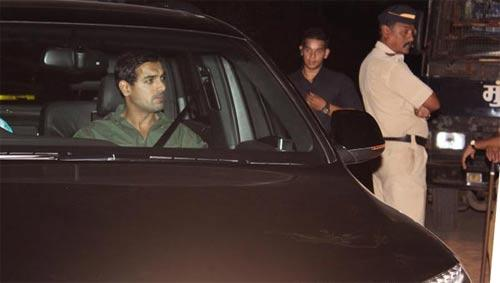 John Abraham Arrives at Yash Chopra Funeral