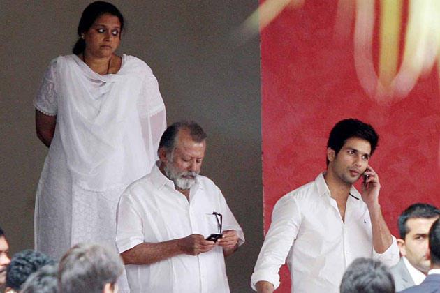 Shahid Kapoor at Yash Chopra Funeral