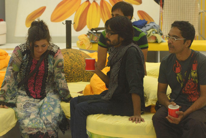 Delnaaz,Aseem,Brijesh And Rajeev At  Bigg Boss House In Day 14