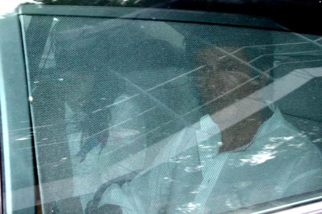 Shah Rukh Still On Car  During On His Way To Yash Chopra Rities