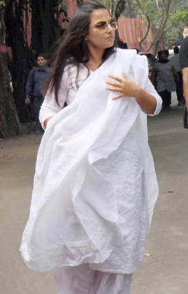 Vidya Balan Arrived To Pay HisLast Respects To The Romance King