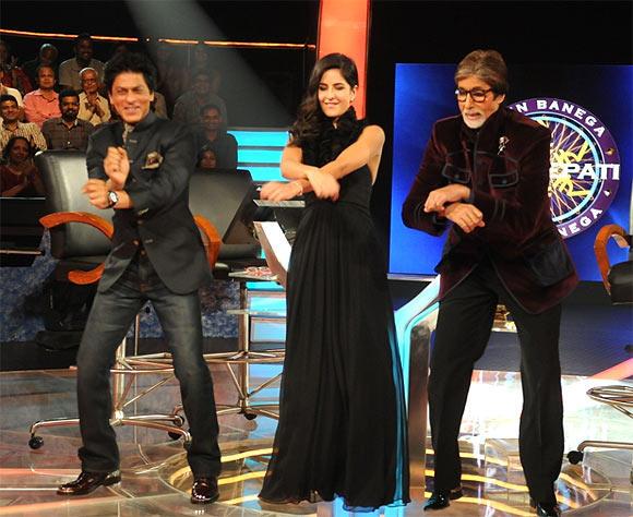 Amitabh,Shah Rukh And Katrina Dance Still During KBC 6