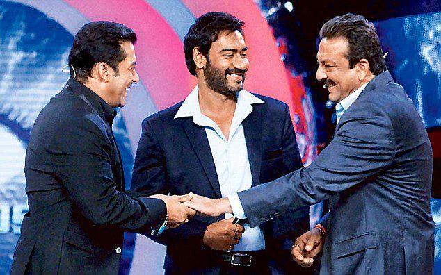 Salman,Sanjay And Ajay Photo Clicked At Bigg Boss 6